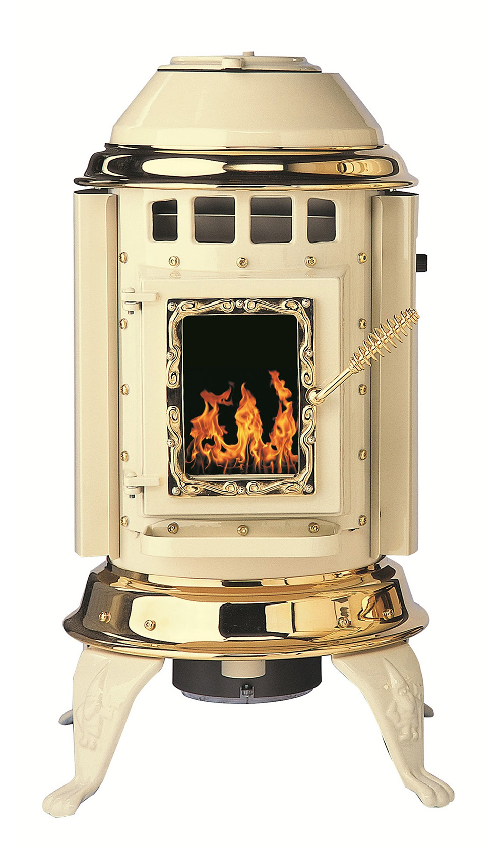 Gnome pellet stove from thelin hearth products - Pellet stoves for small spaces set ...